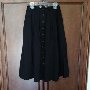 Black Bookstore's Best Midi Skirt Sz XXS XS